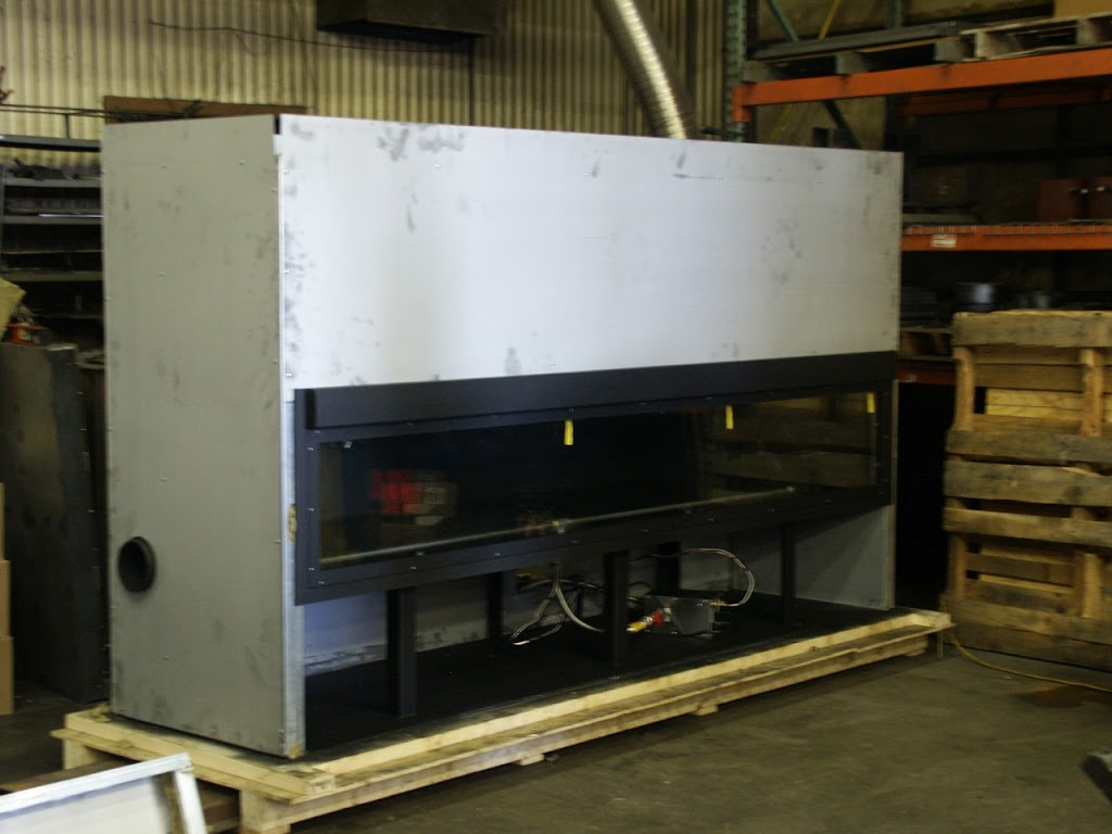 Production Photo Of Custom Linear Fireplace By Acucraft