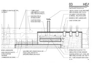 Custom Linear Outside Fireplace Spec Drawing