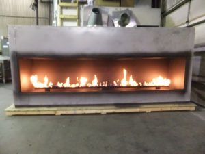 Flame Test for Custom Linear Gas Fireplace