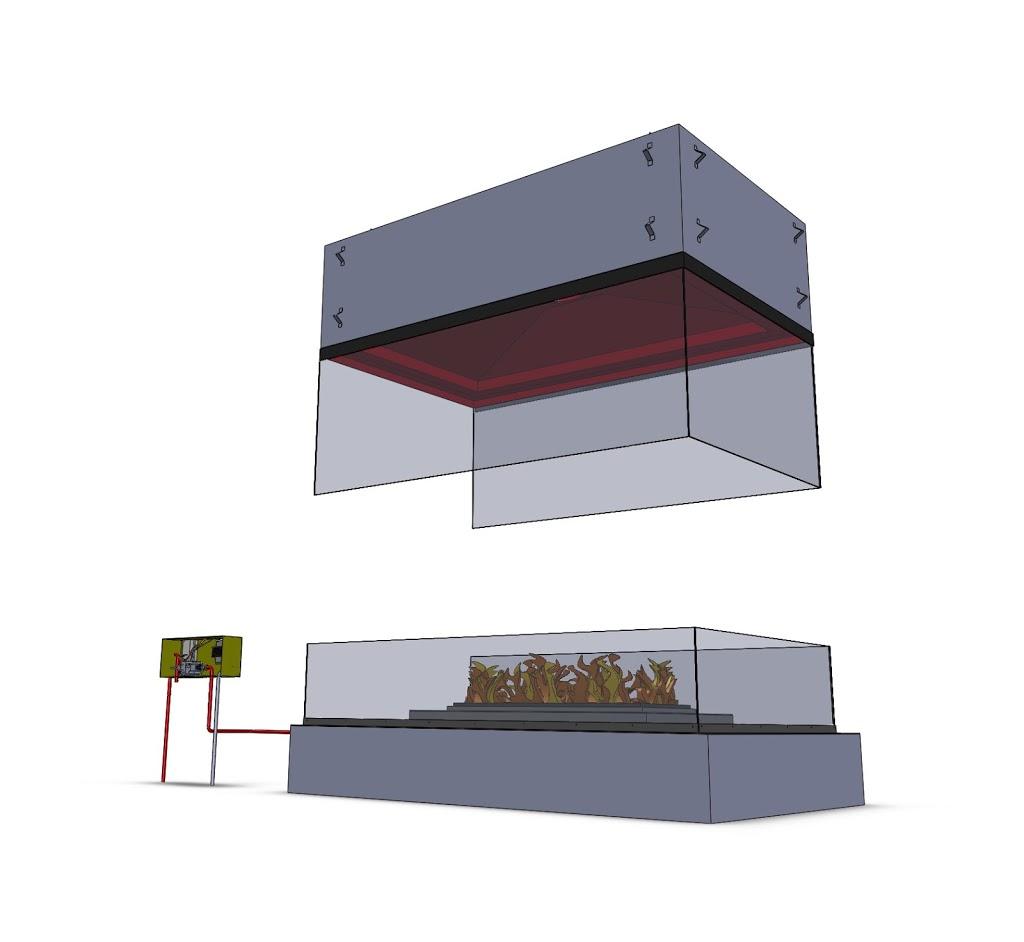Open Gas Fireplace   No Glass Fireplace, Modern Design