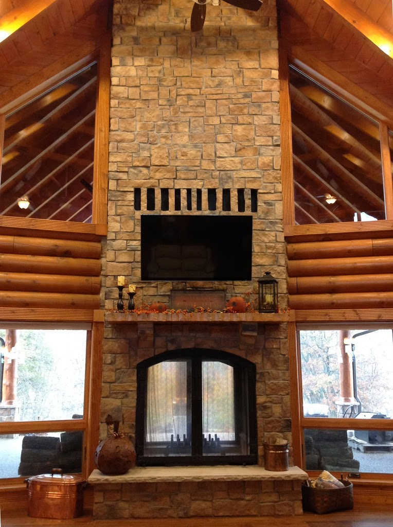 Custom see through outdoor indoor wood burning fireplace for Building an indoor fireplace