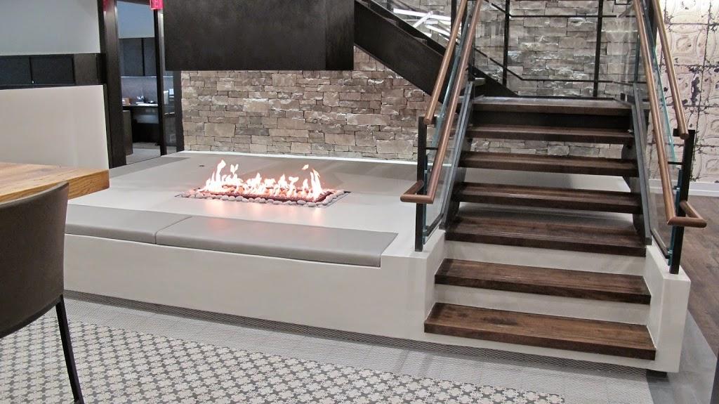 Custom Gas Fireplace - 4-Sided No Glass
