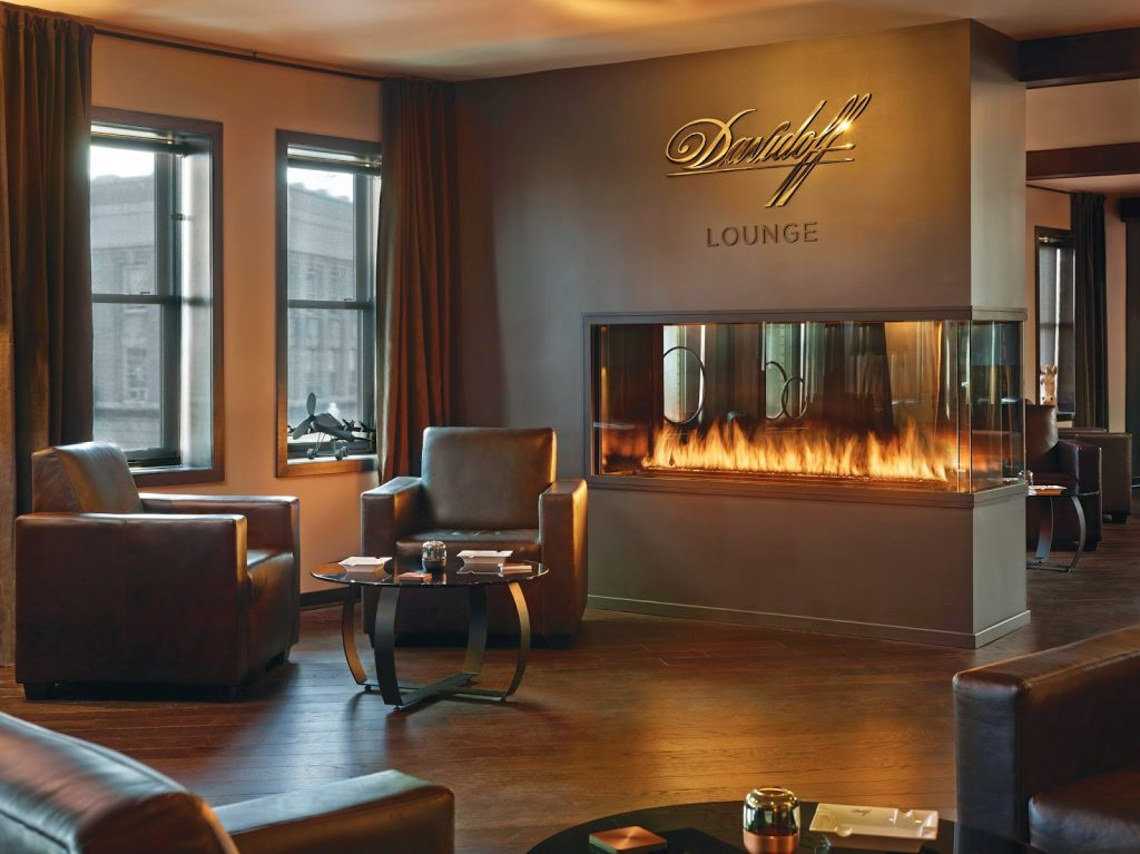 Davidoff Cigar Lounge - Acucraft Fireplaces