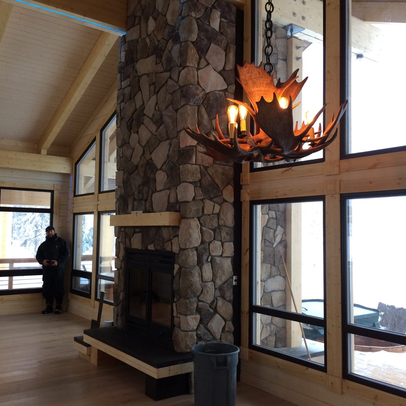 Tordrillo mountain lodge wood burning fireplaces for 4 sided fireplace