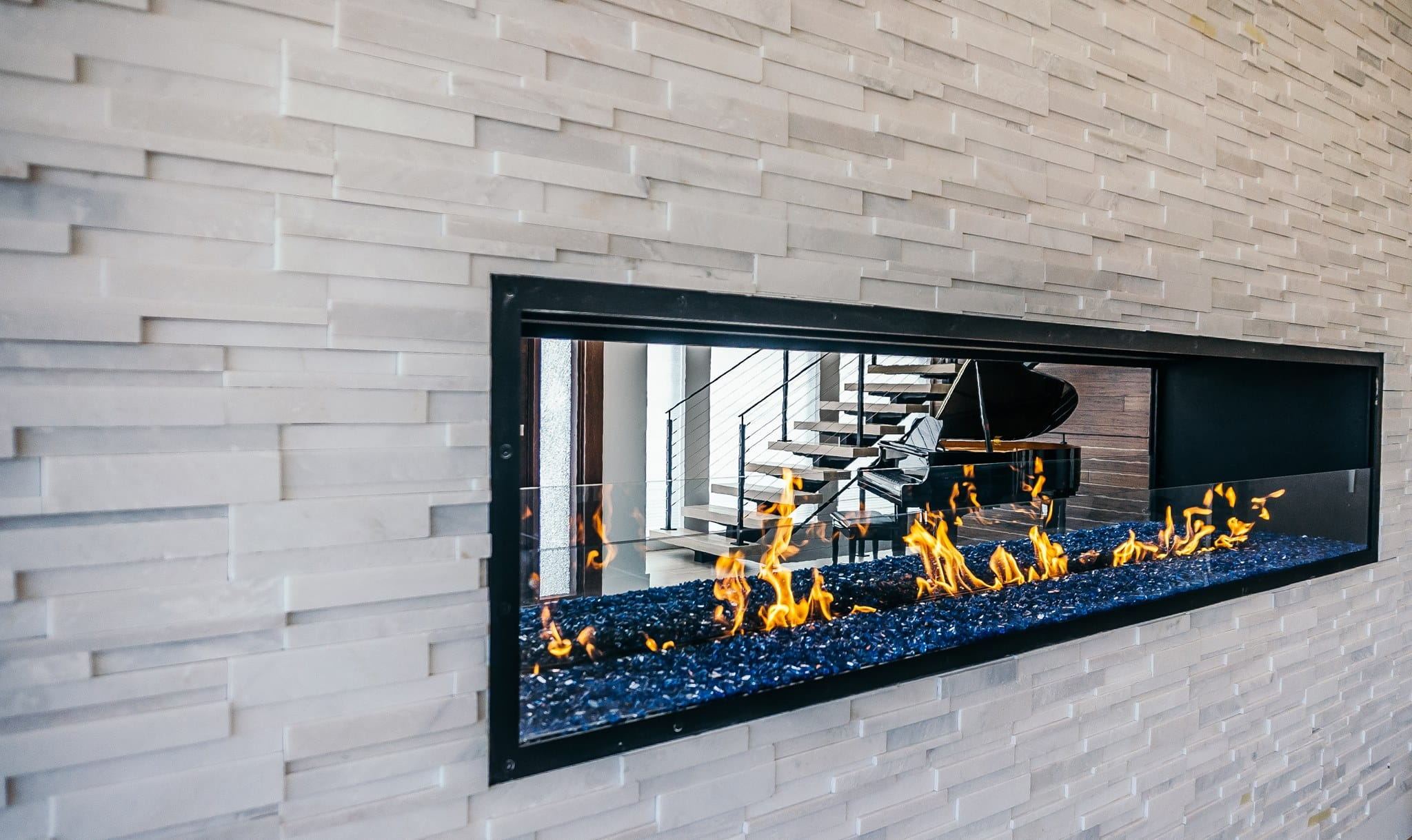 linear gas fireplace ideas from acucraft
