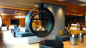 Commercial Custom Gas Fireplace Finished