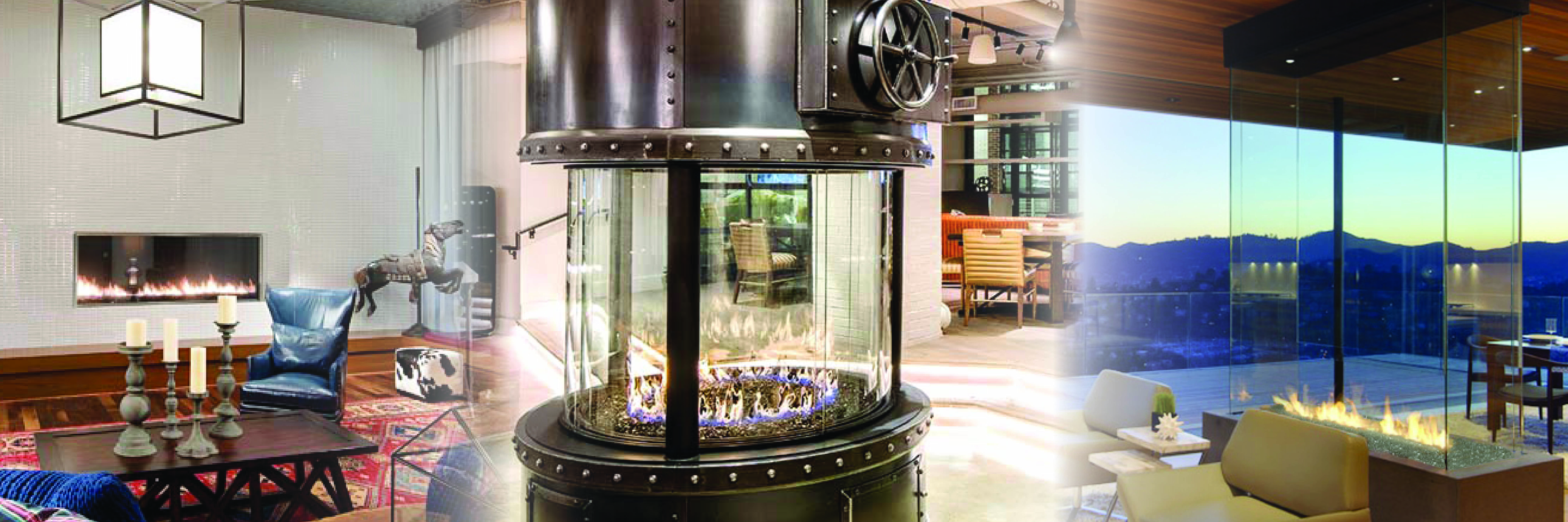 Linear Circular 4Sided Gas Fireplaces