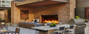 An outdoor fireplace makes for a comforting and relaxing environment! Contact Acucraft Today to Get Started Creating Your Own Custom Fireplace!