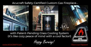 Acucraft Safety Certified Custom Circular Gas Fireplace