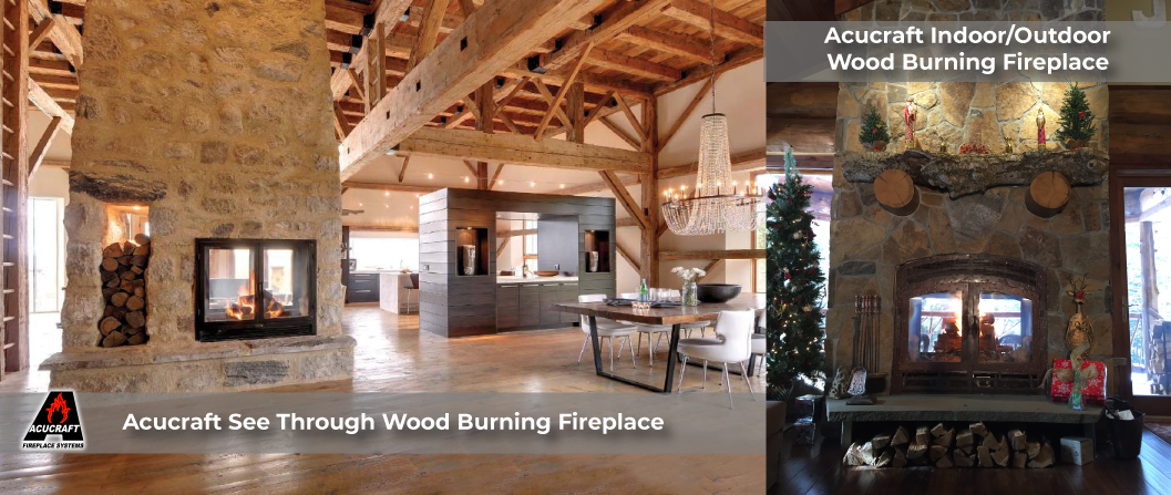 Indoor Outdoor Wood Fireplaces + See Through Wood ...
