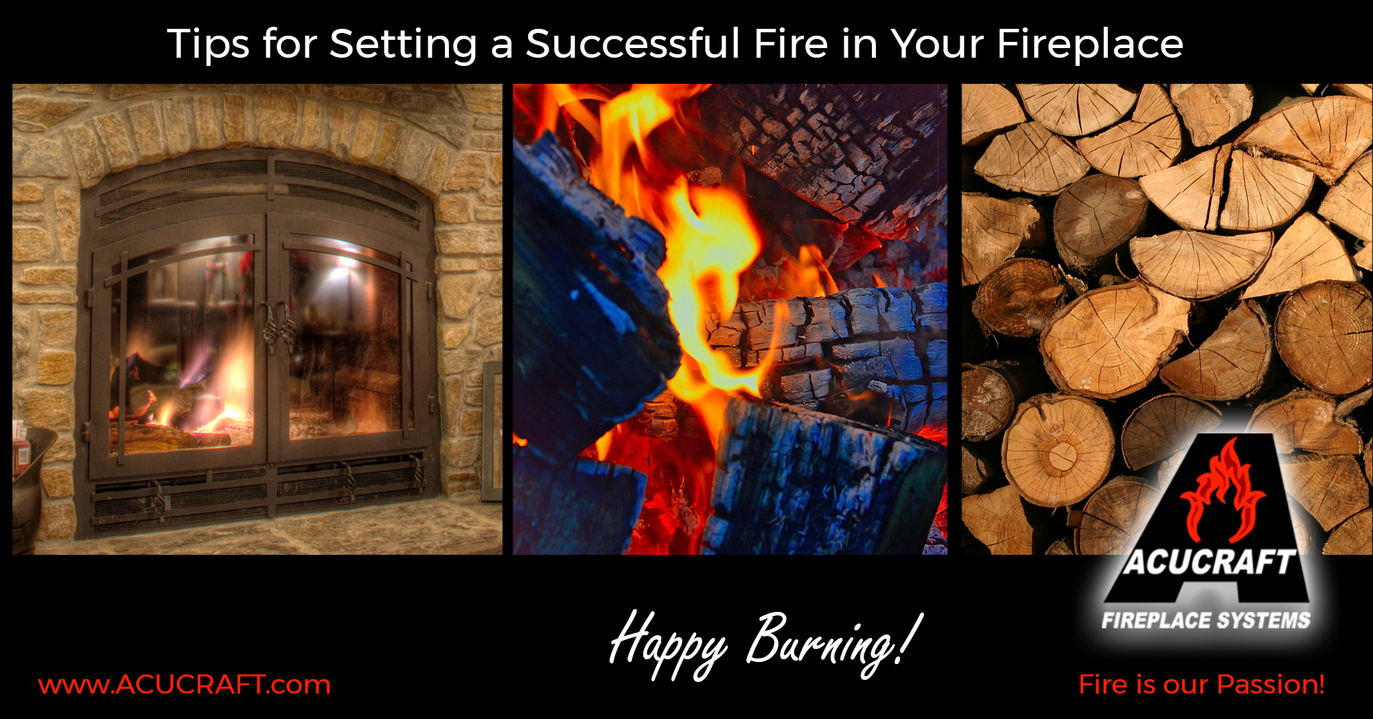Tips for Setting a Successful Fire in Your Fireplace