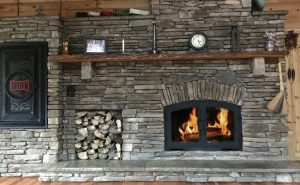 single sided wood burning fireplace