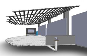 acucraft provided gas fireplace down drafting rendering