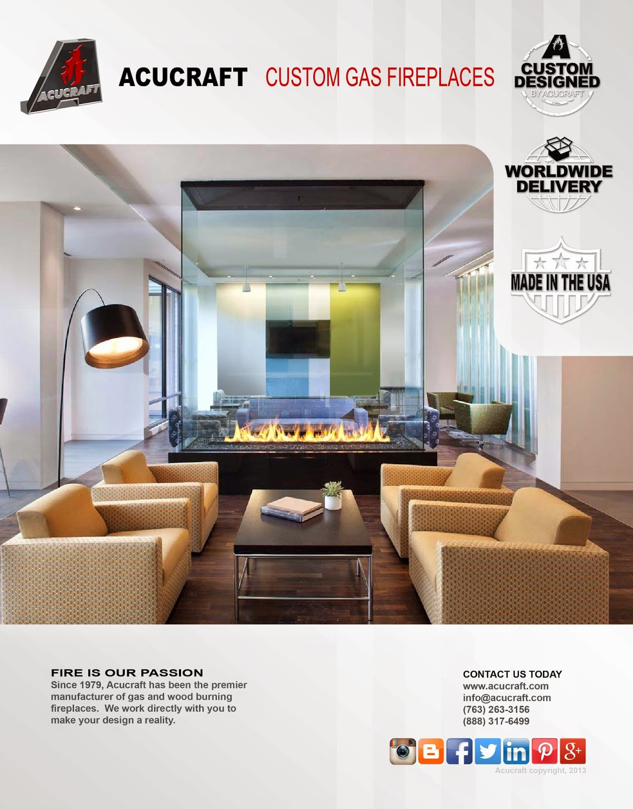 Custom Gas Fireplace Brochure