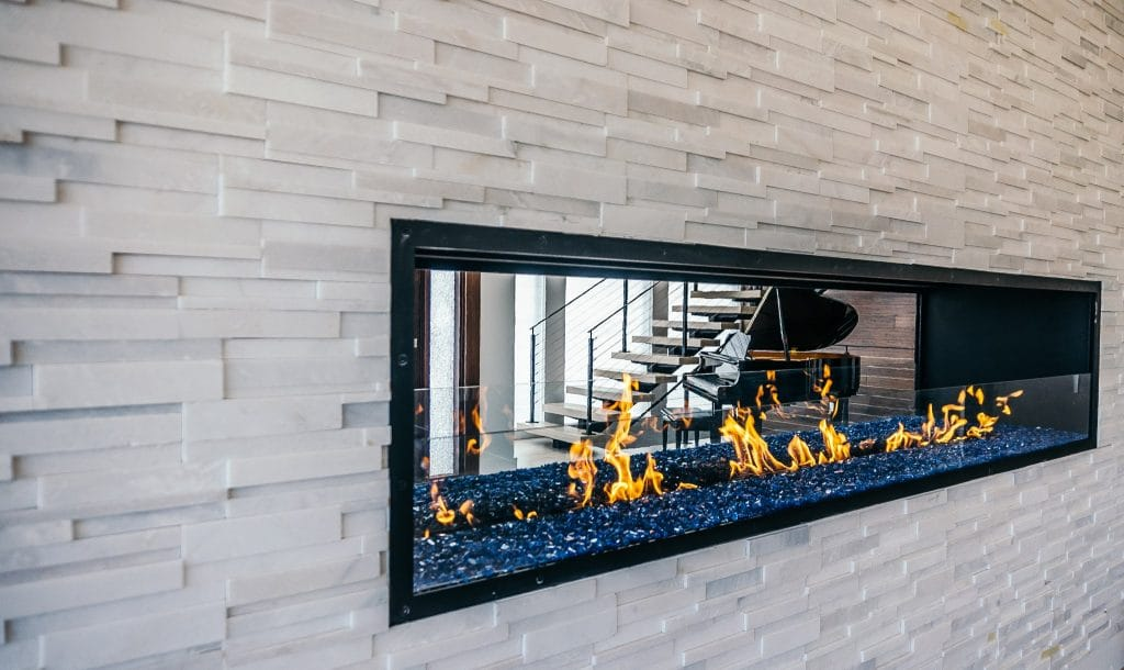 acucraft custom gas linear fireplace