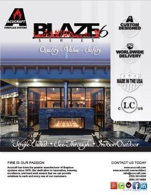 blaze linear commercial fireplace brochure
