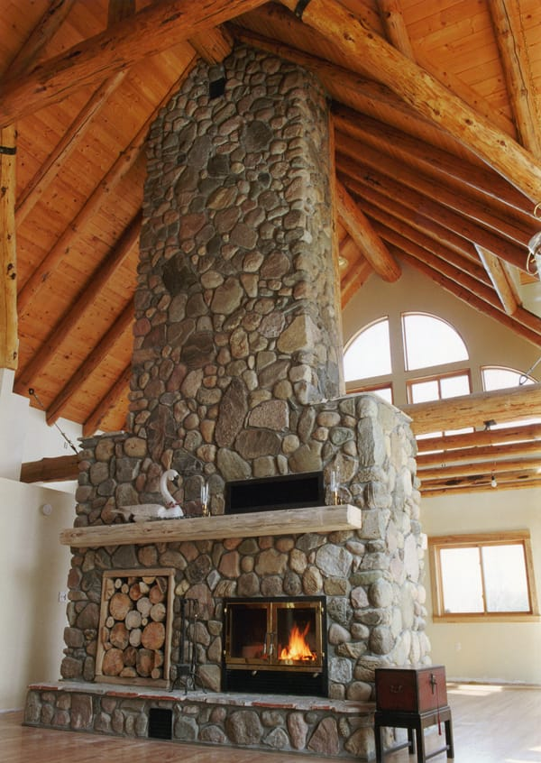 Chalet See Through High Technology Fireplace