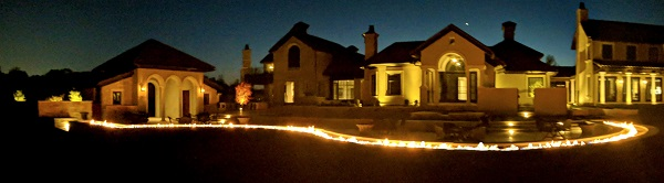 acucraft custom 103 foot gas burner for private residential landscape