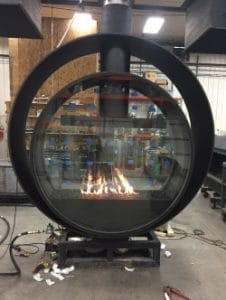 Acucraft-Custom-Gas-Double-Ring-Circular-Fireplace-Palomar-Hotel-Testing