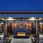 Acucraft Custom Gas Indoor Outdoor Fireplace - Slopeside Grill & Pub - Blue Mountain Ski Resort
