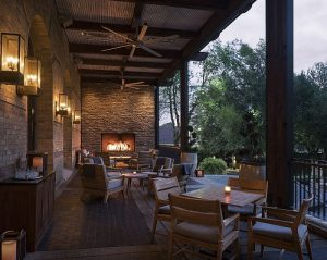 custom outdoor open gas fireplace four seasons resort and hotel patio