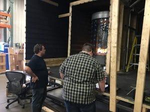 Testing Custom Gas Fireplace by Acucraft
