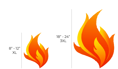acucraft offers multiple flame heights tallest flames on the market