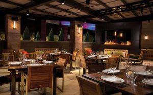 custom outdoor see through gas fireplace in maryland live casino restaurant