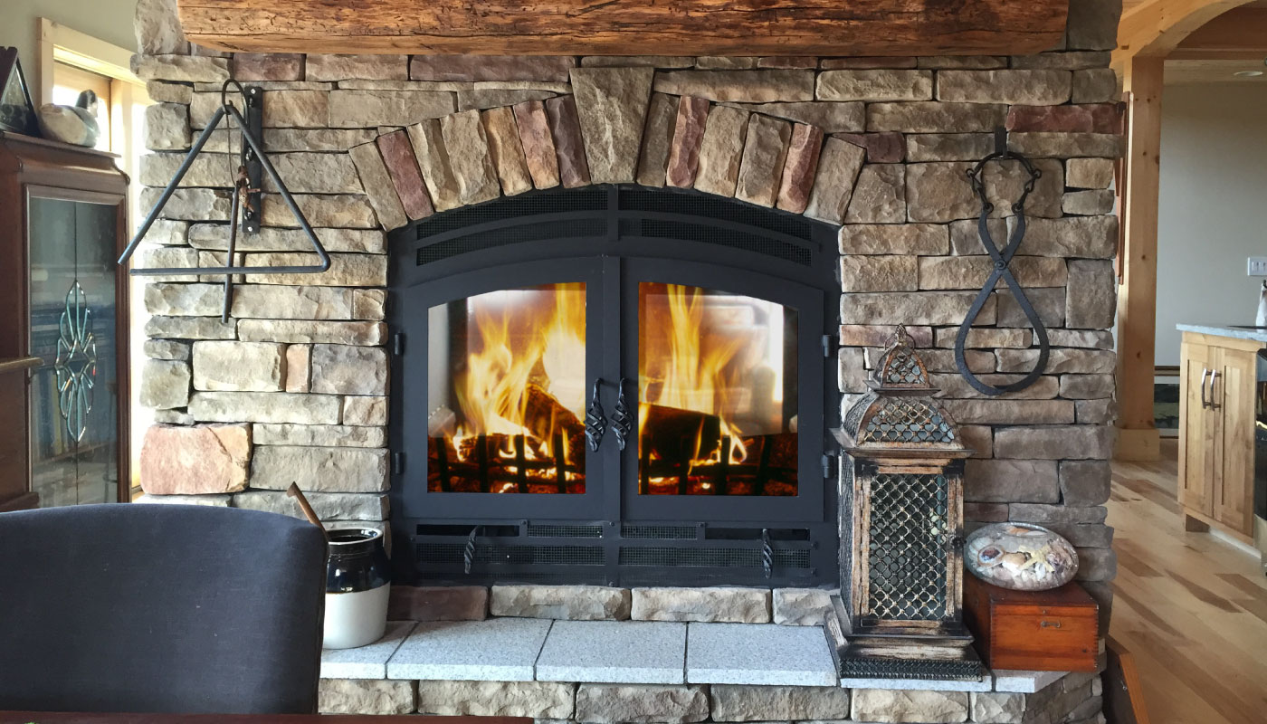 See Through Double Sided Wood Fireplace Acucraft Fireplaces