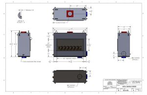 acucraft provided linear gas fireplace drawing and specifications