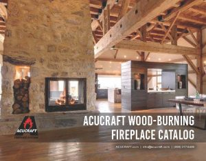 acucraft wood burning fireplace catalog