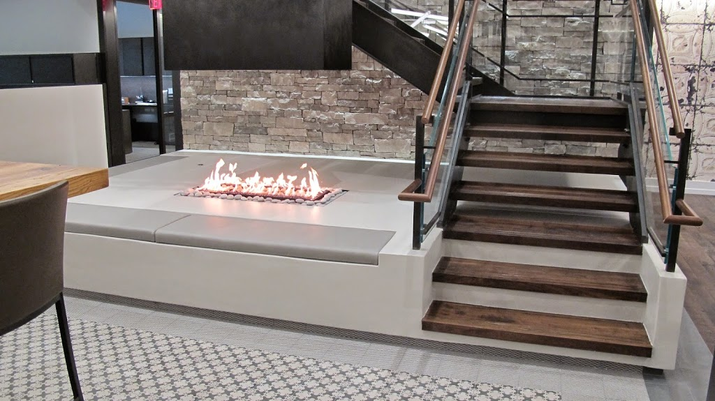 Custom Gas Fireplace - 4-Sided No Glass