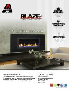 Acucraft Blaze 6 Standard Linear Gas Fireplace Brochure