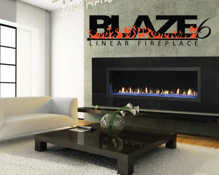 Remoted Controlled Linear Gas Fireplace