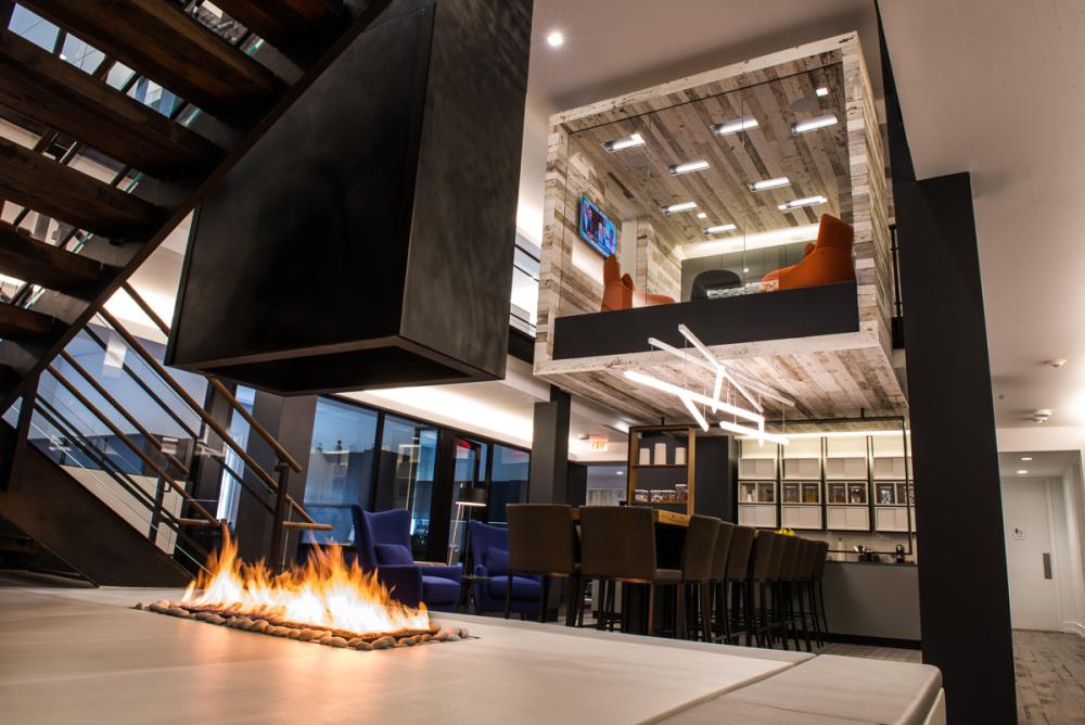 Modern Open Gas Indoor Firepit