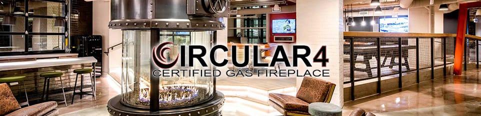 circular 4 gas fireplace brochure