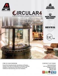 circular gas fireplace brochure