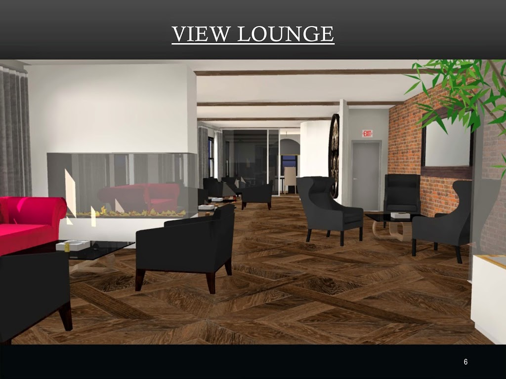 Rendering of Davidoff Cigar Lounge Peninsula Gas Fireplace