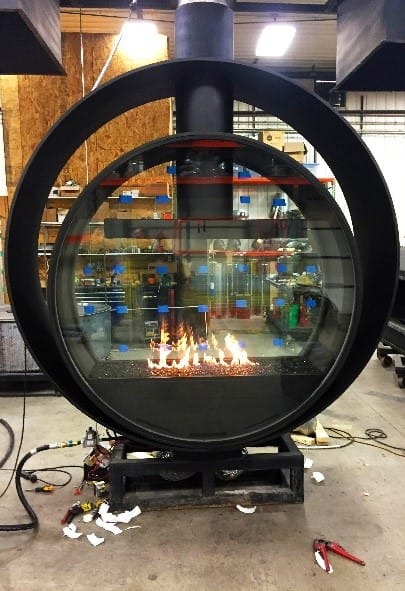 Commercial Custom Gas Fireplace Test