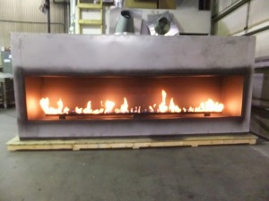 Test Burn of Linear Gas Fireplace