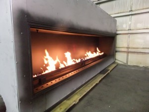 Front Flange of Linear Gas Fireplace