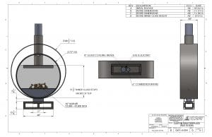 Acucraft Custom Gas Circular Double Ring Fireplace Palomar Hotel Design Drawing 2