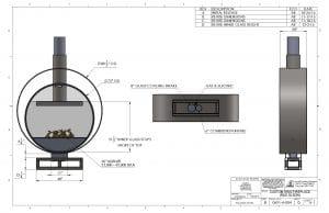 Acucraft Custom Gas Circular Double Ring Fireplace Palomar Hotel Design Drawing 2