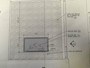 customer provided fireplace sketch