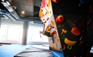 google headquarters rock climbing wall