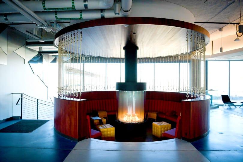 Google Fireplace Designed with C Decor for Colorado State Flag