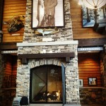 Acucraft Commercial Custom Gas Fireplace with Logset - Cabela's Retail Stores