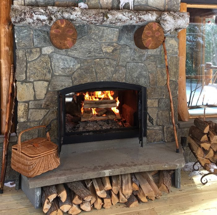 Indoor Outdoor Wood fireplace Blog