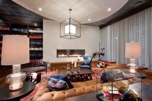 Blaze 10 Linear Gas Fireplace Installed in Gathering Room