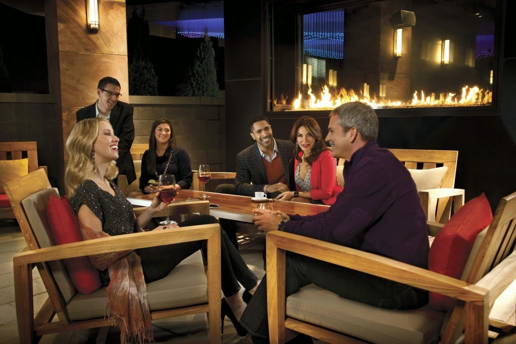 Acucraft Custom Gas Outdoor Fireplace - Maryland Live Casino